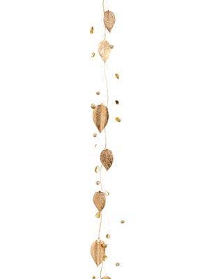 """43"""" Rhinestone Leaf GarlandWith BellGold"""