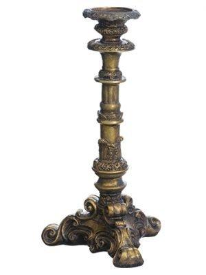 """18.5"""" Candleholder Antique Gold"""