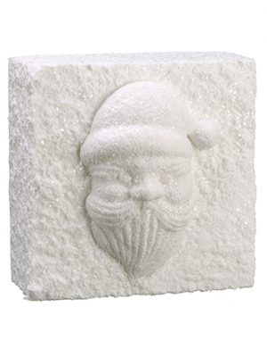 "12""W x 12""L Snowed Santa Wall Tile White"