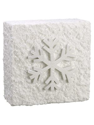 "12""W x 12""L Snowed Snowflake Wall Tile White"