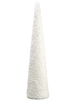 "28"" Glittered Cone Topiary White"