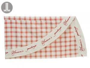 "96"" Season's Greetings PlaidLinen Table ClothBeige Red"