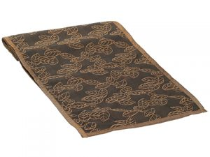 """13""""W x 72""""L Leaf EmbroideredTable RunnerBrown"""