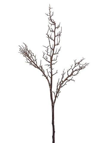 "48"" Glittered Thorn TwigBranchBrown Glittered"