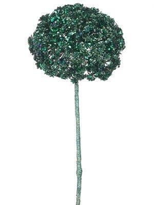 "19"" Glittered Allium Spray Peacock"