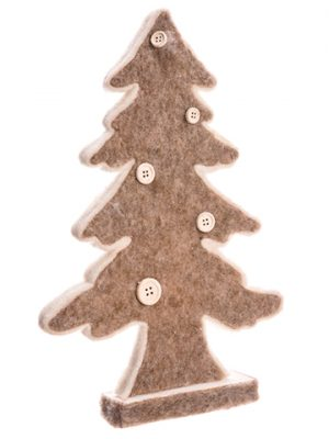 "12""Fir Tree Silhouette Brown"