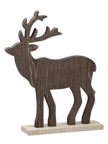 """11.5""""H x 16""""L Moose Table Top Brown"""