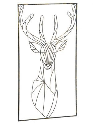 "20.5""W x 37""L Reindeer WallDecorAntique Gray"