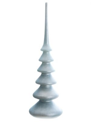 """14.75"""" Glass Finial Table Top Blue"""