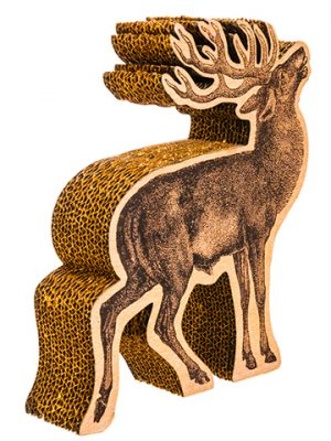 "10"" Glittered Reindeer Table Decor Brown Gold"