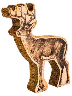 "15"" Glittered Reindeer TableDecorBrown Gold"