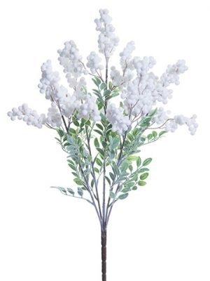 """24"""" Glittered Berry Bush x5 White"""