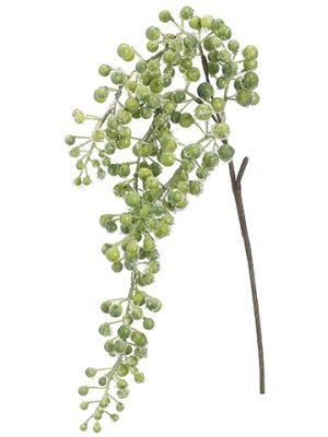 "26"" Iced Berry Hanging Spray Green Iced"