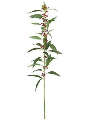 """35"""" Plastic Euphorbia Spray Red"""
