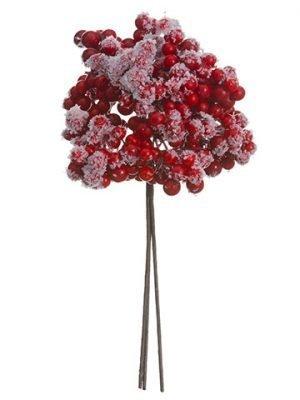 "8.5"" Snowed Ilex Berry Pick Red Snow"
