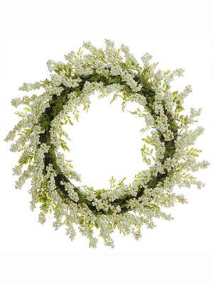 "32"" Berry Wreath White"
