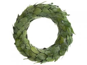 "16"" Iced Magnolia Leaf Wreath Green Ice"