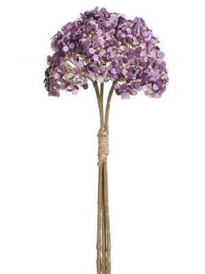 "11"" Glittered Achillea Bundle x3 Purple"