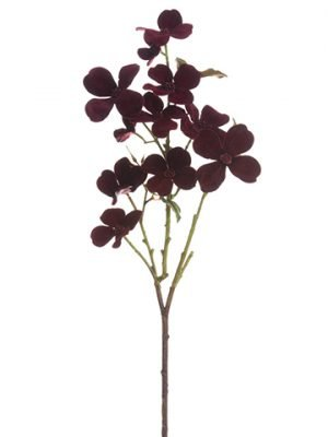 "24"" Velvet Dogwood Spray Burgundy"