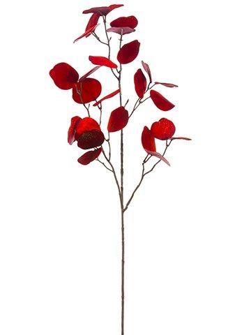 "31"" Eucalyptus Leaf Branch Red Gold"