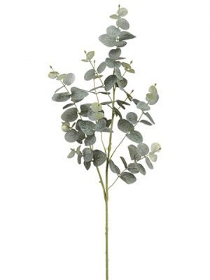 "36"" Glitered Eucalyptus Spray Green Gray"