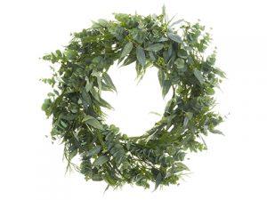 "45"" Eucalyptus/Cedar Wreath Green"