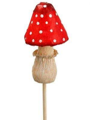 "11.75"" Mushroom Pick Red White"