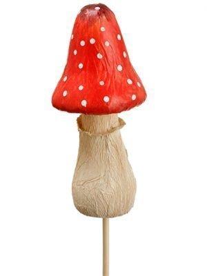 "15"" Mushroom Pick Red White"