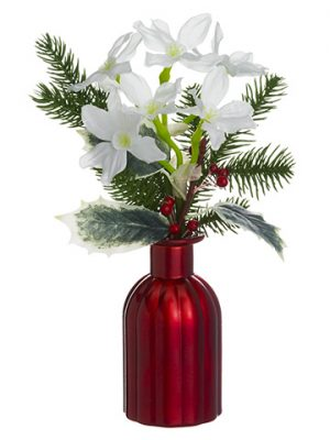 "12"" Paperwhite Arrangement in Glass Vase White"