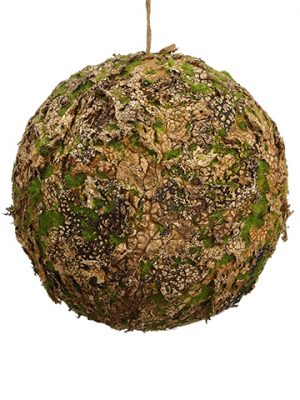 "9"" Moss Ball Ornament Moss Natural"