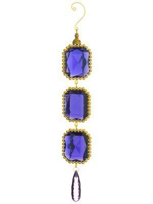 "11.65"" Rhinestone Drop Ornament Purple"