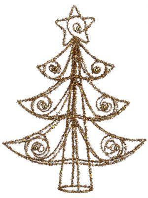 "15.5"" Glittered Tree Topper Gold"
