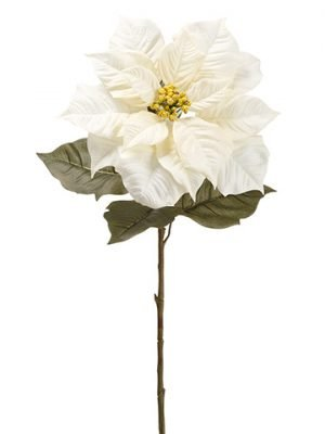 "38"" Poinsettia Spray Cream"