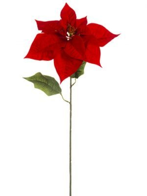 "28"" Nn Majestic Velvet Poinsettia Spray Red"