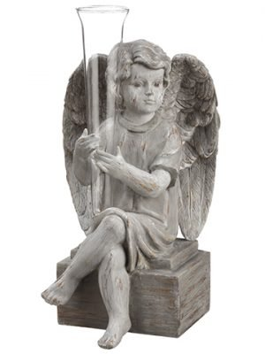 "11"" Angel Vase Gray"