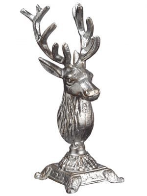 "11"" Reindeer Table Top Silver"