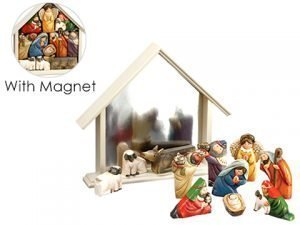 "12"" Magnet Nativity Set Beige Gold"