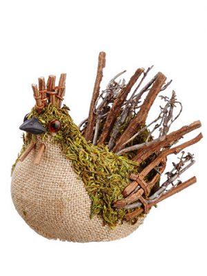 """5"""" Moss Hen Natural Green"""