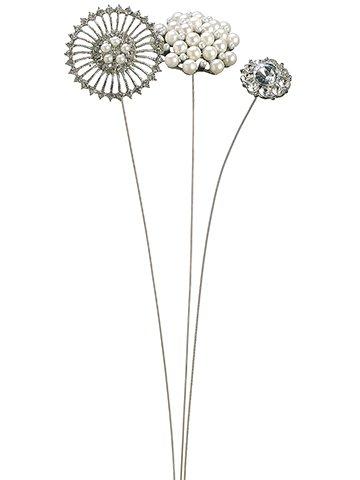"""13.5"""" Jewel Pick Assortment Silver"""