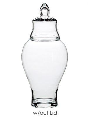 """11.6""""H Galss Jar w/o Lid Clear"""