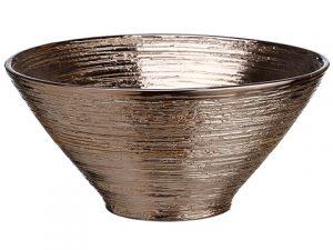 """11""""Dx4.72""""H Ceramic Bowl Brown"""