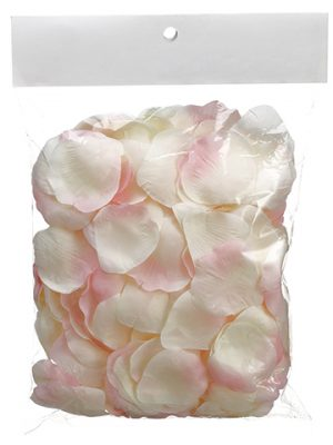 Rose Petal With Header Card (300 ea/bag) Light Pink Petal
