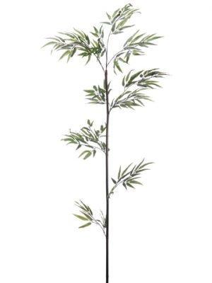 "60"" Black Bamboo Stem w/215LeavesGreen"