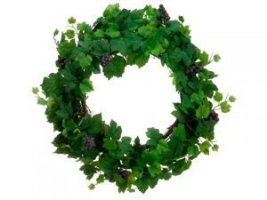 "22"" All Season Grape LeafWreath w/GrapeTwo Tone Green"