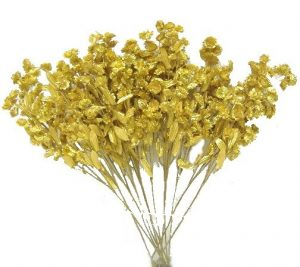 "Gold 18"" tall Baby breath"