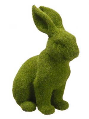 "11.8"" Moss Polyresin Bunny Green"