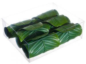 "2.5"" Banana Leaf Napkin Ring (6 ea/acrylic box) Green"