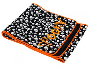"14""W x 72""L Spooky HalloweenTable RunnerBlack Orange"