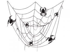 6' Spider/Spider Web TableClothBlack
