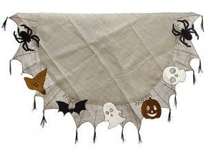 "64"" Halloween Table Cloth Brown Black"